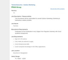 Run Power Engineering Ltd  Asst Manager Sales  Marketing