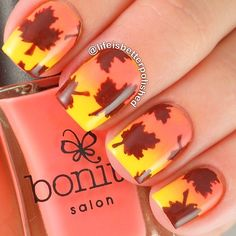 Have a look at the collection of 25 best Autumn leaf nail art designs, ideas & stickers of these Fall nails will suit your hands, do try them out for sure. Get Nails, Fancy Nails, Love Nails, How To Do Nails, Gel Nail Art Designs, Fall Nail Designs, Cute Nail Designs, Fall Nail Art, Autumn Nails