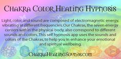 Color healing sound therapy self hypnosis.