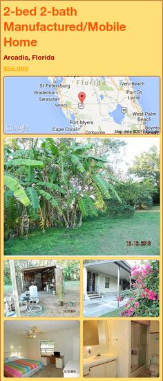 2-bed 2-bath Manufactured/Mobile Home in Arcadia, Florida ►$55,000.00 #PropertyForSale #RealEstate #Florida http://florida-magic.com/properties/89873-manufactured-mobile-home-for-sale-in-arcadia-florida-with-2-bedroom-2-bathroom