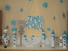 Zimní sporty a sněhuláci 2016 Sporty, Art For Kids, Arts And Crafts, Education, Handmade, Winter, Art For Toddlers, Art Kids, Hand Made