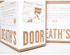 Death's Door Spirits by GRIP. View more at www.gripdesign.com #spirits #liquor #gripdesign