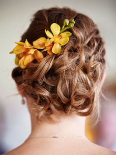 casual, curly updo