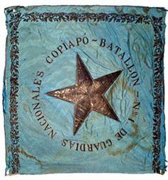 Estndarte del Batallón N° 1 de Guardias Nacionales, Copiapó durante la Guerra del Pacífico