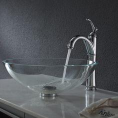 crystal clear vessel sink