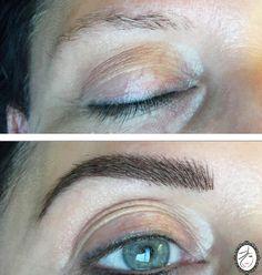 """Grâce au Sleek Brows, la ligne de sourcils est parfaitement naturelle. Les sourcils se mêlent parfaitement au gel teinté sans un effet tatouage ou """"maquillé au réveil !"""""""