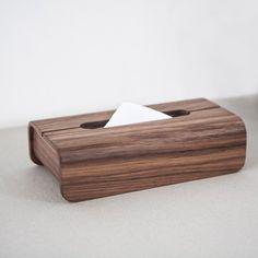 Tetrad 手工木製面紙盒∣完全黑胡桃