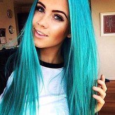 Mermaid blue.  #YAY or #NAY? #inspirehairstyles