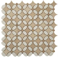 Thassos White Emperador Light and Crema Marfil Flower Kitchen Polished Stone - modern - Tile - Glass Tile Oasis