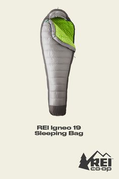 Looking for a sleeping bag that's lightweight, waterresistant AND ultrawarm? The REI Igneo 19 is your answer. A top-selling, 19-degree sleeping bag, it's a scant 1-lb., 13 ounces for ultralight backpacking. Shop now. #LetsCamp