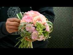 Solomon花藝教室【第二課:小清新的新娘花球】 - YouTube
