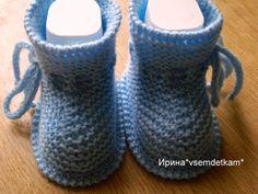 Вяжем малышам простые в исполнении пинетки спицами | Ярмарка Мастеров - ручная работа, handmade