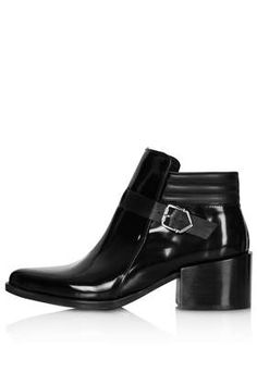 AUDIO Black Heel Boots look a lot like the sold out $700 Jil Sander booties