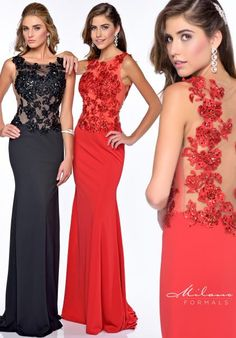 Milano Formals Prom Dresses E1637. I tried this on in black and I felt like a million pounds, now if only it cost a smaller chunk of that...