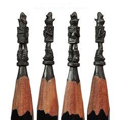 Miniature Pencil Sculptures by Salavat Fidai