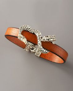 Naga Leather Bracelet, Brown by John Hardy at Neiman Marcus. $275