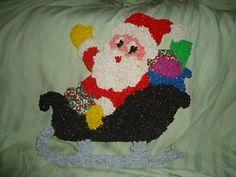 Vintage Christmas Melted Plastic Decoration