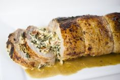 Stuffed Parmesan Pork Tenderloin