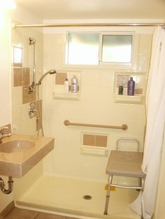 Handicap Bathroom Shower Ideas Will Be Found Here, At Our Site, And Used  For Re Designing Your Home Bathroom For A Disabled Person.