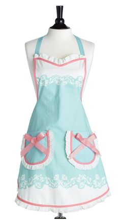 Adorable apron - for mother's day every women needs a pretty apron for when working hard