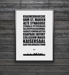 Dieses Wandbild ist eine Hommage an die Stadt Erfurt, genau wie Ihre Sehenswürdigkeiten. Die Stätten, die diese Stadt unvergesslich machen, bestimmen den Eindruck des Bildes. Darüber...