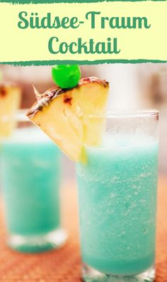 Toller Südsee-Traum-Cocktail mit Blue Curacao.