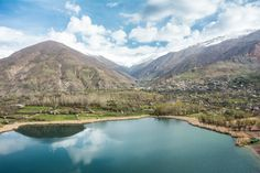 Evan Lake, one of the first stops on the way west towards Alamut Castle from Qazvin, Iran