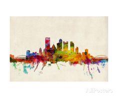 Pittsburgh Pennsylvania Skyline Fotografie-Druck