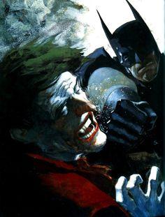 Batman vs Joker by Scott Hampton