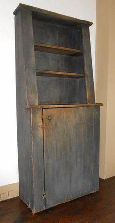 Slant back open cupboard