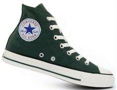 Dark Green Converse All Star