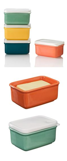 Ceramic butter dish. Designed by Helen Johannessen for Yoyo Ceramics.
