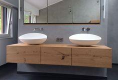 Home Decorating Ideas Bathroom Waschtisch selber bauen Bathroom Furniture, Bathroom Interior, Ideas Baños, Decor Ideas, Wooden Counter, Vanity Units, Wood Cabinets, White Cabinets, Bathroom Inspiration