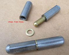 """4/""""X 5//8/""""Weld On Bbq Smoker Pit Bullet Door Lid Hinge Non greasable Brass Pin 2"""