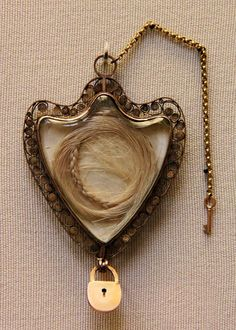 A locket containing hair from queen Marie Antoinette.