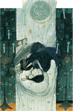 romeo and juliet, watercolor on paper, by svetlin vassilev, via artlimited.net #art #painting #svetlinvassilev