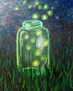 Pinot's Palette - South Lamar Painting Library jar of fireflies
