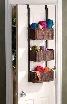 Over the Door Basket Storage | Click Pic for 12 Clever Space Saving Ideas for Small Bedrooms | DIY Storage Ideas for Small Bedrooms