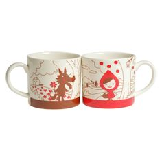 Otogicco Little Red Riding Hood Mugs Set (Front)