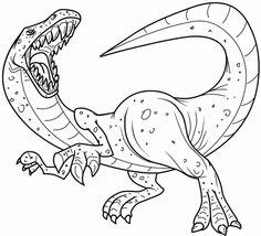 Dinosaurios para colorear para niños