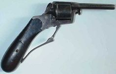 Gunsmith M. Fischer of Berlin made this bizarre .38 caliber revolver sometime before 1896. It featured an unusual trigger system that permitted an owner without fingers to hold and fire it.
