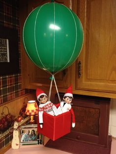 Elf on the Shelf…Hot Air Balloon Ride