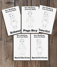 Children's wedding activity book, pack, kid's colouring, i-spy, paper dolls, weddings activities, ages 2+, DIY BRIDE, Uk and USA