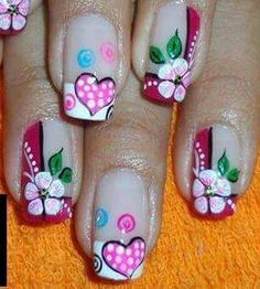 Mani Pedi, Pedicure, Nail Art Designs, Design Art, This Little Piggy, Flower Nail Art, Nail Envy, Hot Nails, French Nails