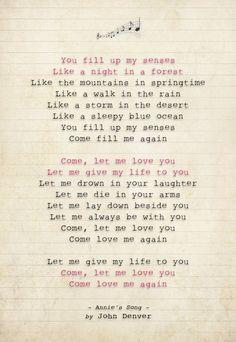 111 John Denver - Annie's Song - Song Lyric Art Poster Print - Sizes A4 A3 in Music, Music Memorabilia, Pop   eBay