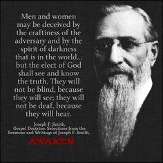 Joseph F. Smith Mormon Quotes, Lds Quotes, Religious Quotes, Inspirational Quotes, Gospel Quotes, Motivational, Lds Spiritual Thought, Spiritual Thoughts, Prophet Quotes