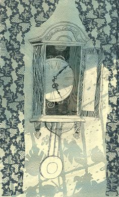 Illustrations for the poetry by BorisTulin by Victoria Semykina, via Behance