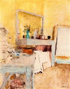A Corner of Vuillard's Room at Clayes - Edouard Vuillard - The Athenaeum