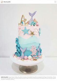 Mermaid tall cake
