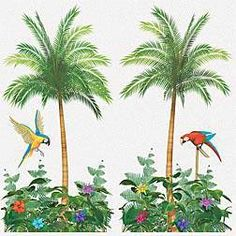 The lightweight, palm tree static cling is great for decorating your luau party. It's reusable! 65 inches high x 33 1/2 inches wide.$4.99 for 2